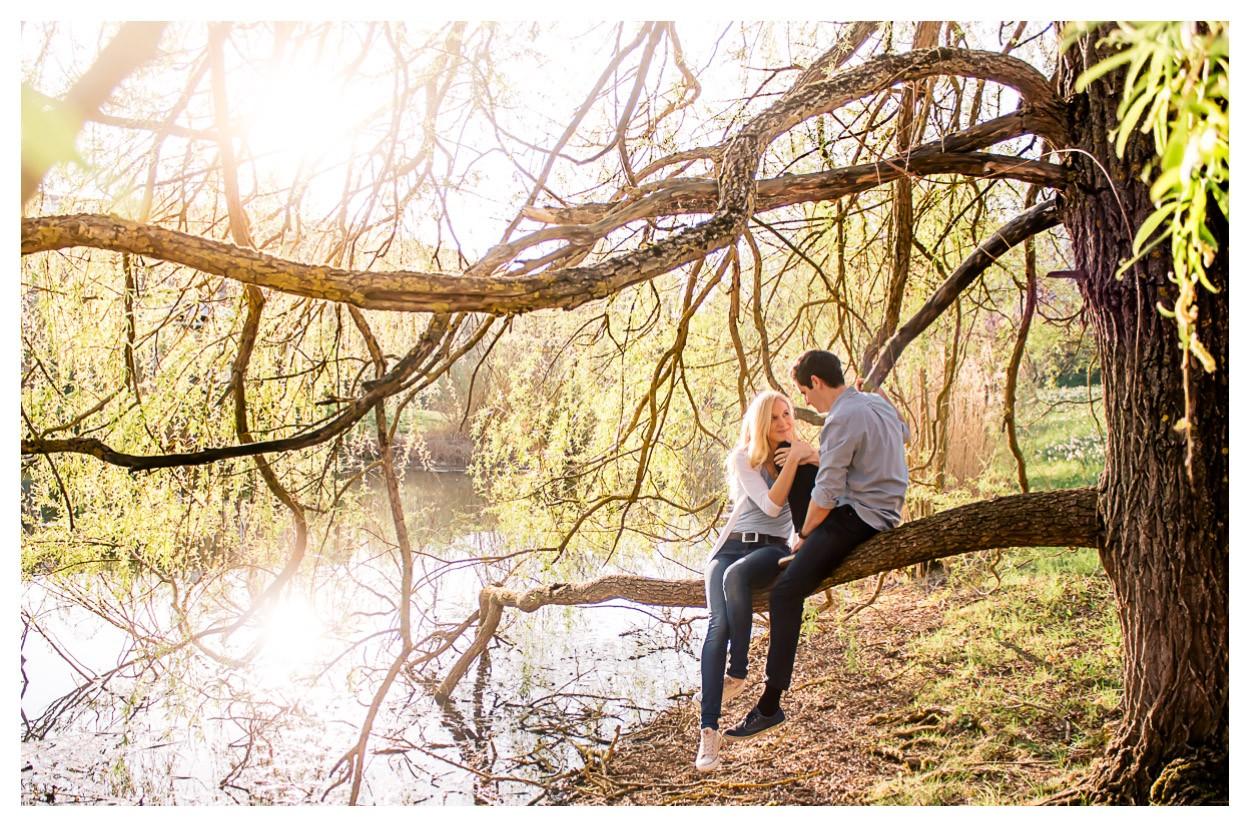 Kirschblüten und ein Verlobungsshooting